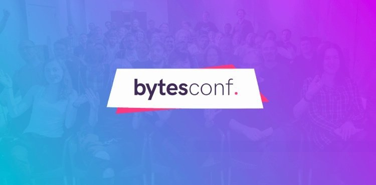Screenshot of Bytes Conf 2019 rebrand
