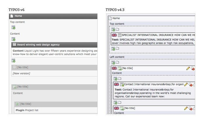 TYPO3- Page view
