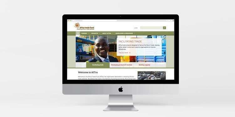 Screenshot of Africa Trade Fund