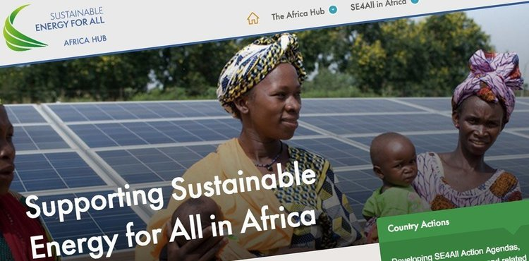 Screenshot of Sustainable Energy For All - Africa hub