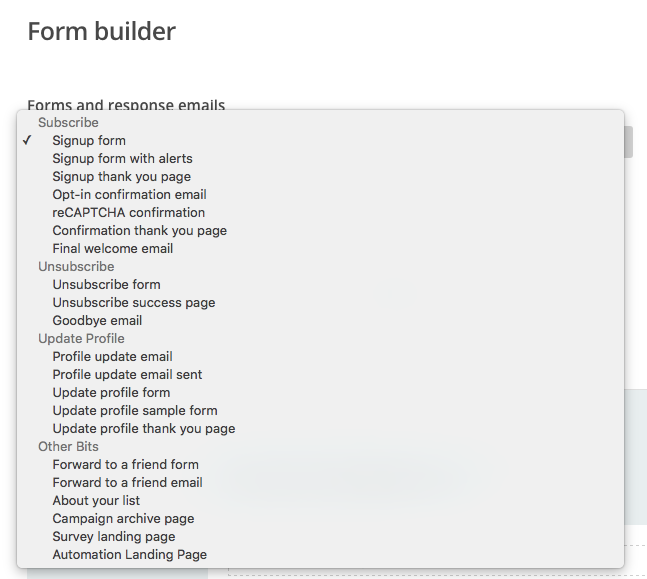 how to add wufoo form to mailing list mail chimp