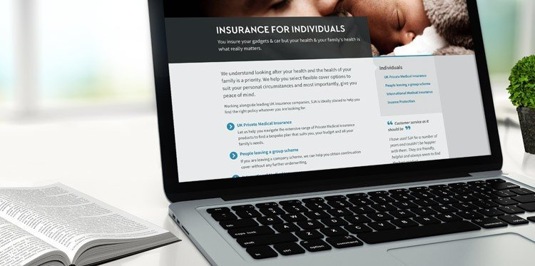Screenshot of SJA Health Insurance