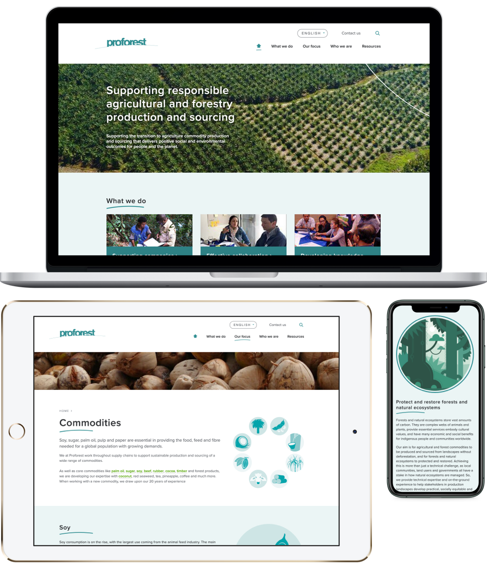 Proforest - finished website