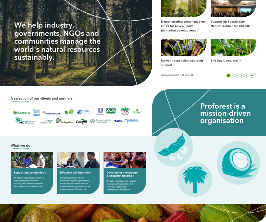 Proforest website showcase